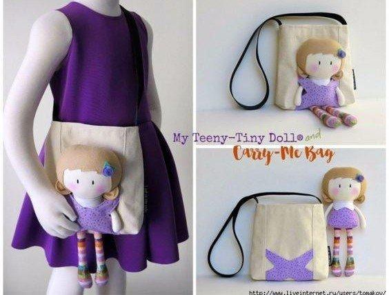 фото кукла с сумкой хэндмэйд