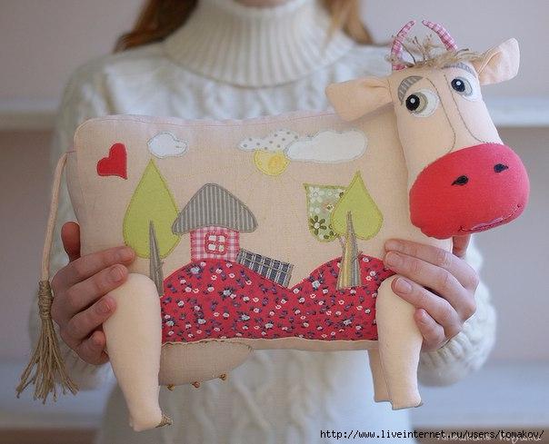 фото текстильная корова своими руками