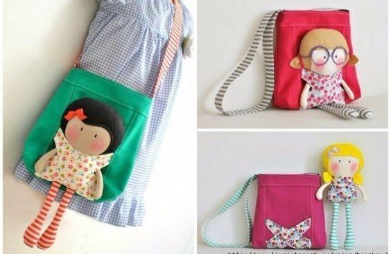 Кукла с сумкой и выкройка сумки LOL 2