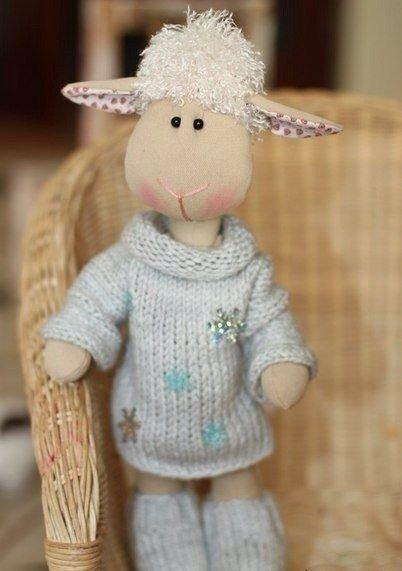 фото овечка из флиса выкройка