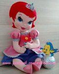 Кукла Ариэль из фетра — выкройка