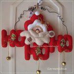Новогоднее украшение на дверь