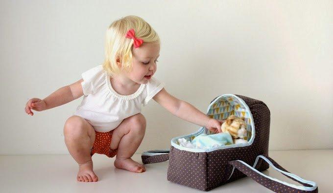 фото люлька переносная для кукол