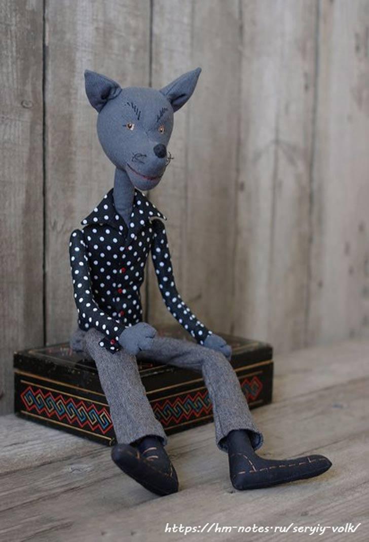 фото выкройка игрушки серый волк