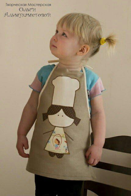 фото фартук детский с аппликацией