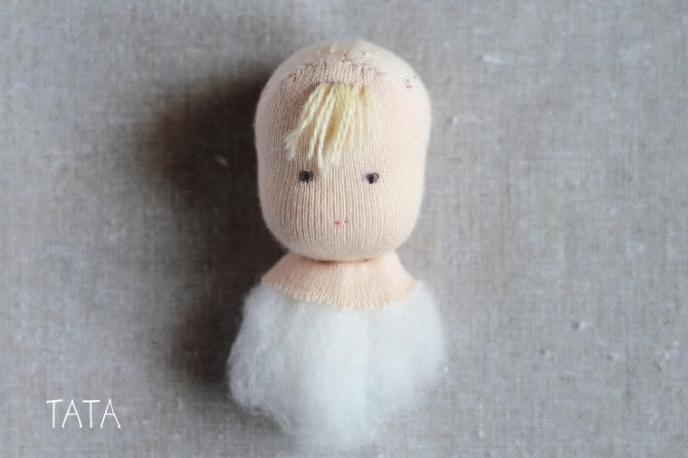 выкройка куклы и схема колыбели