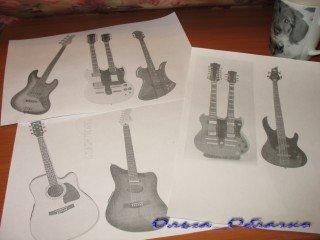 фото как сделать текстильные гитары