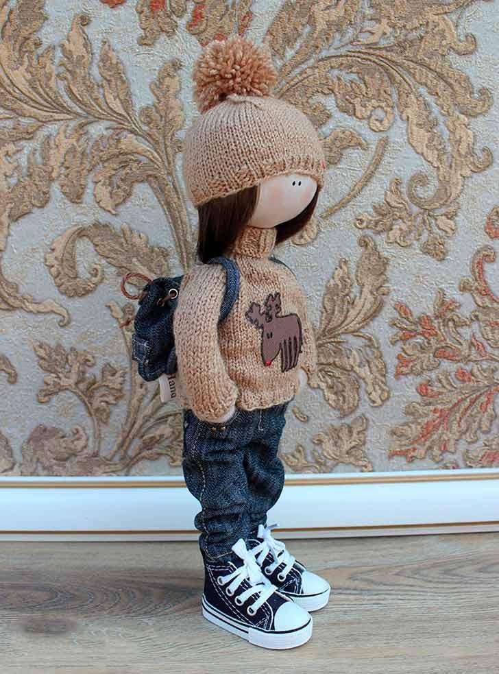 фото Выкройка куклы Большеножка 32 см