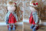 Выкройка куклы «Большеножка» 28 см