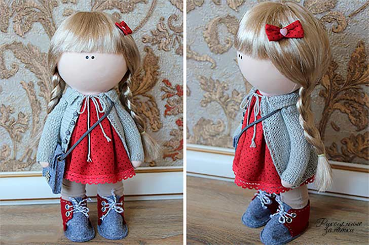 фото выкройка куклы Большеножка