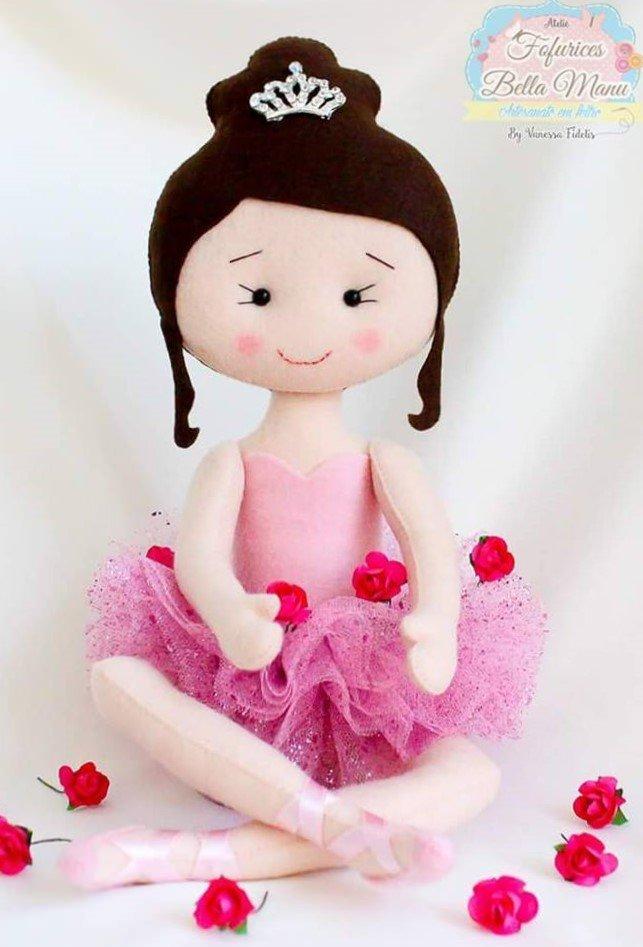 фото кукла балерина из войлока