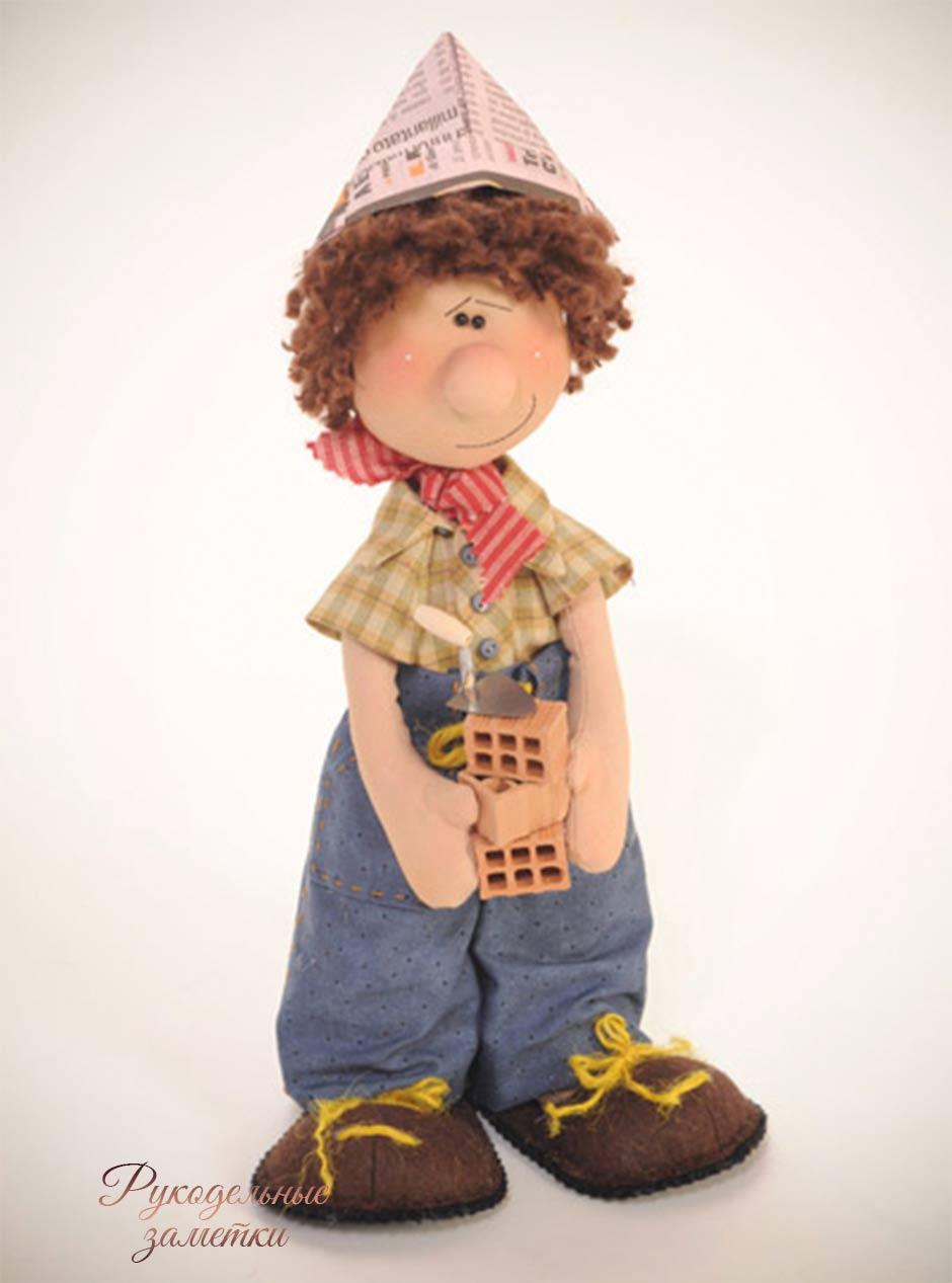 Выкройка куклы строителя Беппе
