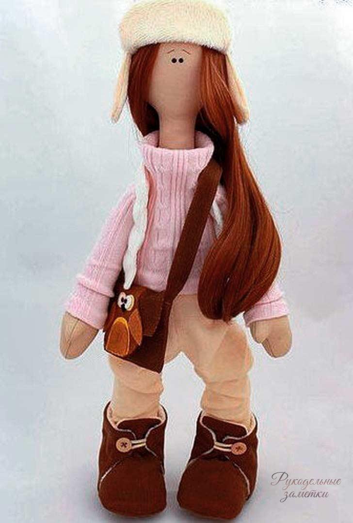 фото выкройка куклы большеножки с комплектом одежды