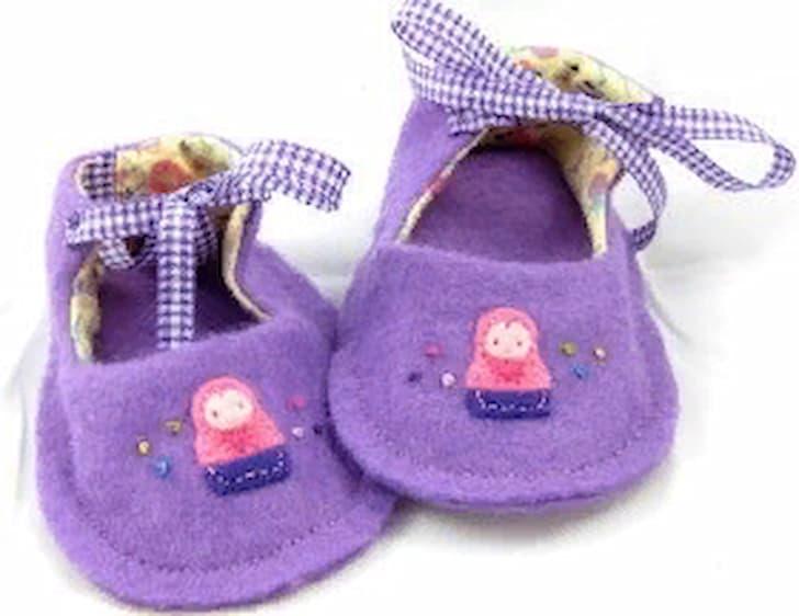 фото туфли для куклы из войлока