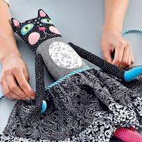 Выкройка большой текстильной кошки
