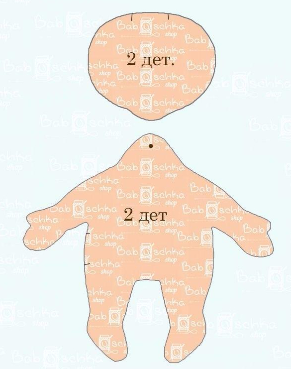 фото выкройка кукла малышка