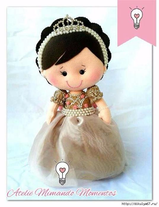 фото кукла фетр