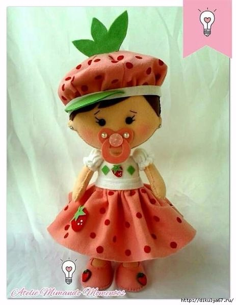 фото кукла из фетра