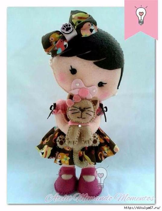 фото куклы из фетра