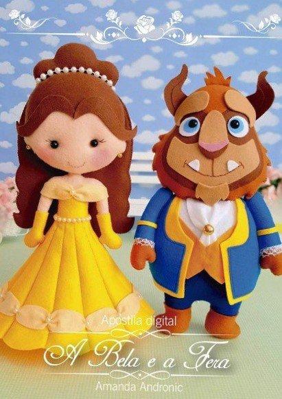 фото выкройка кукол Красавица и Чудовище