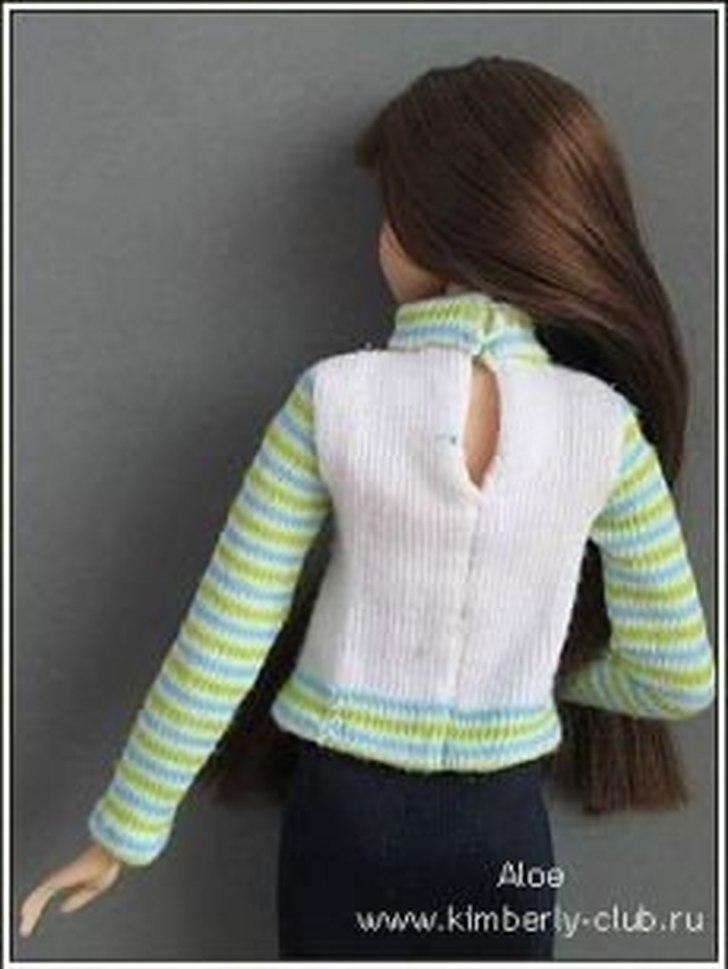 Джемпер для куклы из носка
