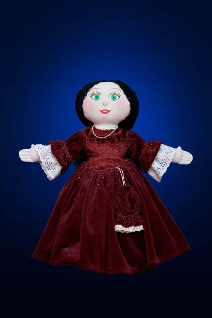 фото выкройка куклы с платьем