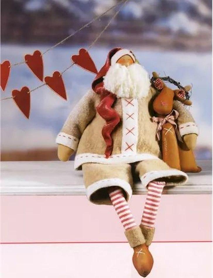 фото Выкройка Санта Клауса и оленя