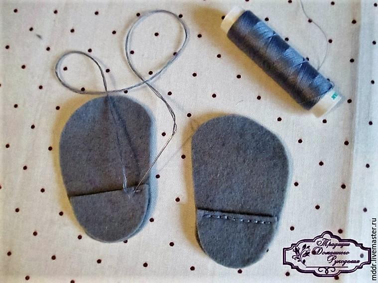 Как сделать сапожки для куклы из фетра 3