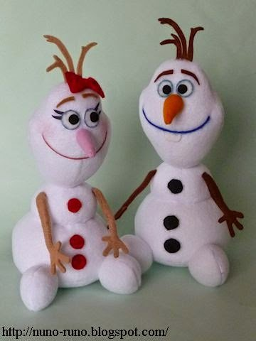 выкройка куклы снеговик