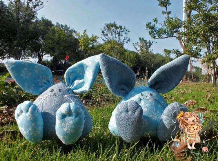фото подушки игрушки ушастые кролики
