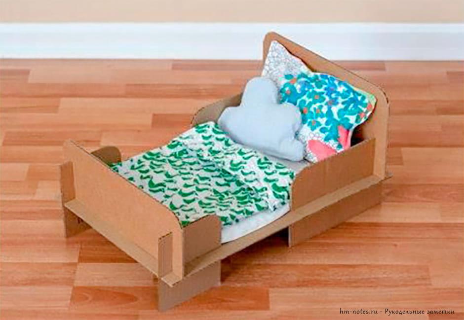 кроватка для кукол своими руками