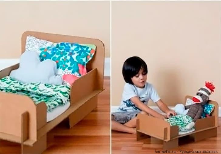 фото кроватка для кукол своими руками