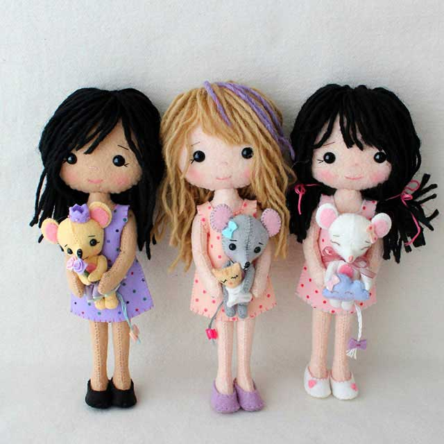 Авторские куклы из фетра от Gingermelon