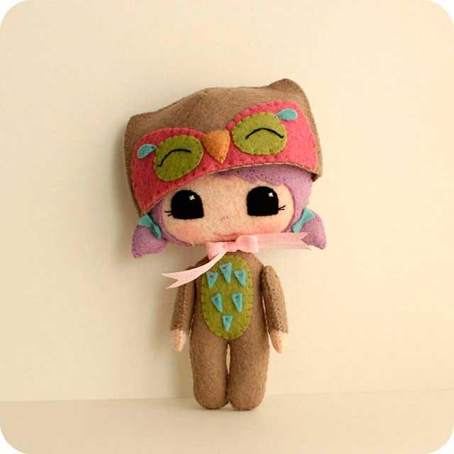 Авторские куклы из фетра от Gingermelonклы