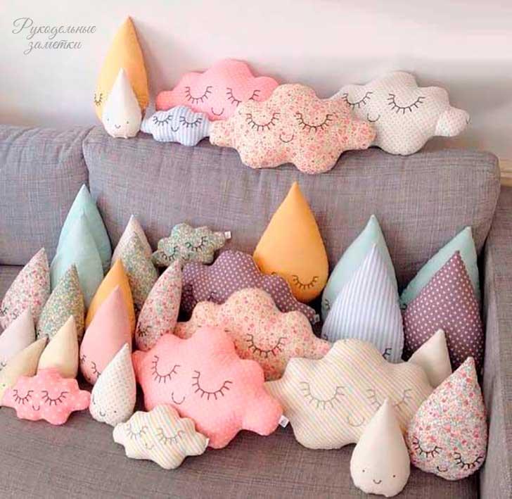 Фигурные подушки своими руками