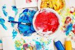 Краски, мелки для рисования, Mod Podg и бумага для разморозки своими руками