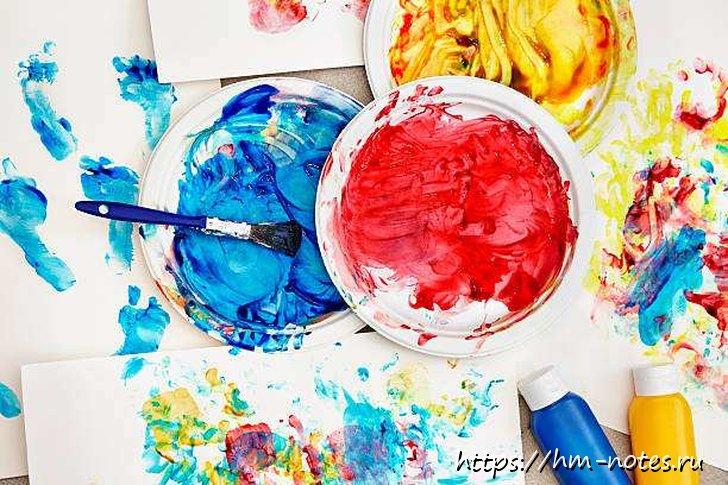 Делаем сами различные краски и мелки