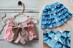 Шьем красивые шорты и юбку с воланами для девочки