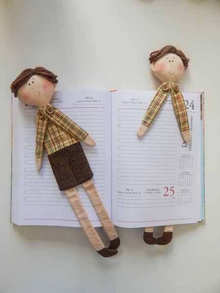 закладки для книг в виде кукол