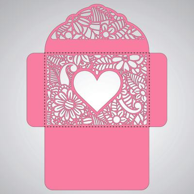 шаблон подарочных коробок и конвертов