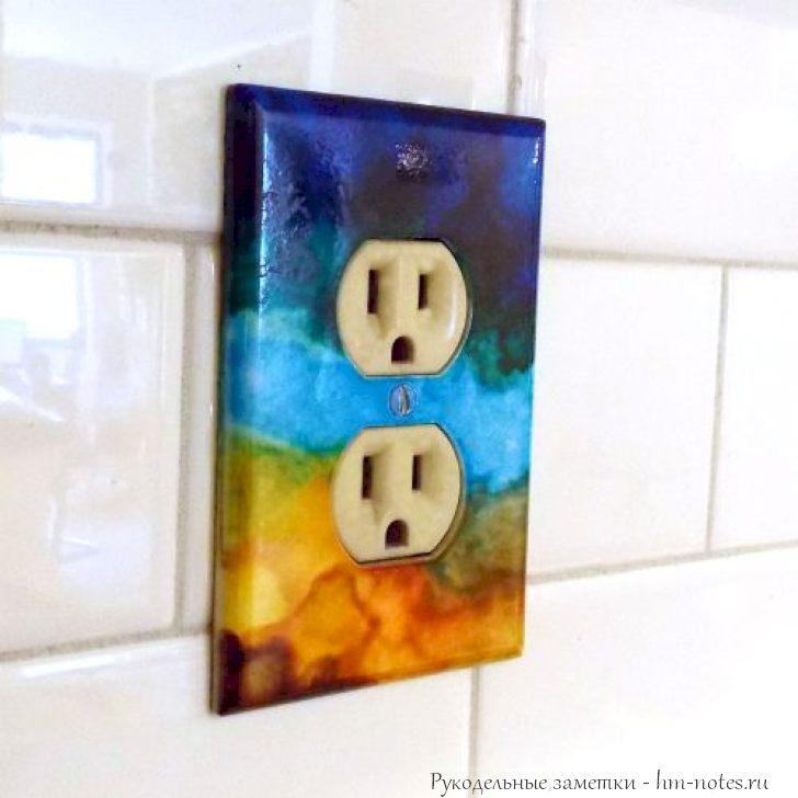 фото декорируем розетку и выключатель