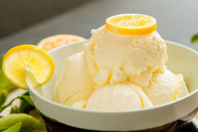 Очень вкусное лимонное мороженое