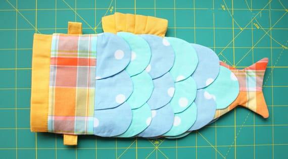 Как сшить детскую сумочку в форме рыбки