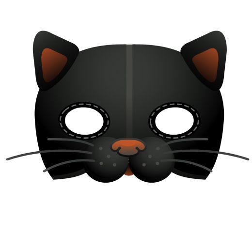 Идеи и шаблоны детских масок черный кот