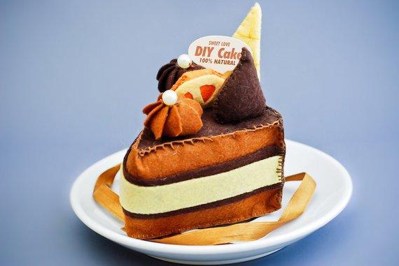 выкройка торта из фетра