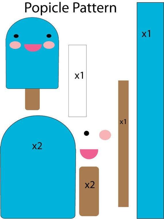 выкройка мороженое из фетра