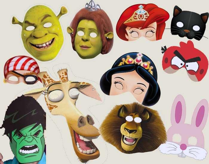 Идеи и шаблоны детских масок 1