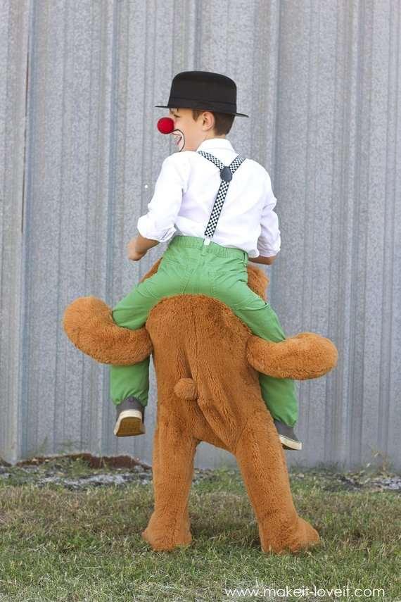 костюм клоуна с медведем своими руками