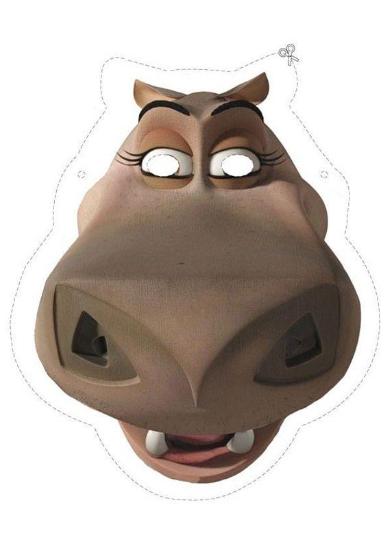 детская маска бегемот Глория