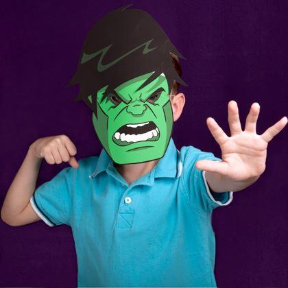 детская маска Халк из бумаги
